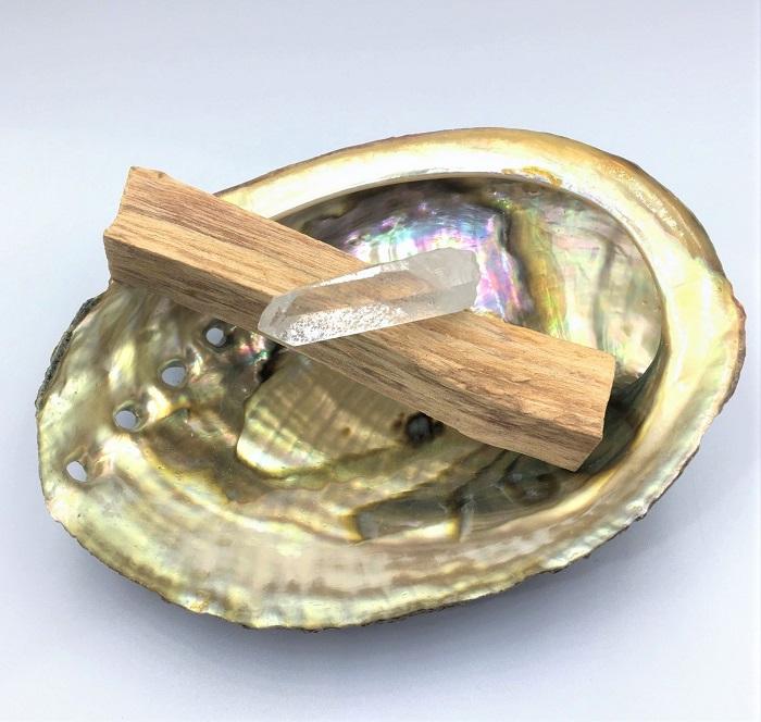 【お得!】アバロンシェル・パロサント・水晶 浄化セット