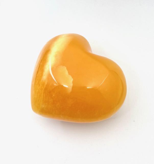 オレンジカルサイト約10cm 大きめハート型ポリッシュ 店舗同時販売品