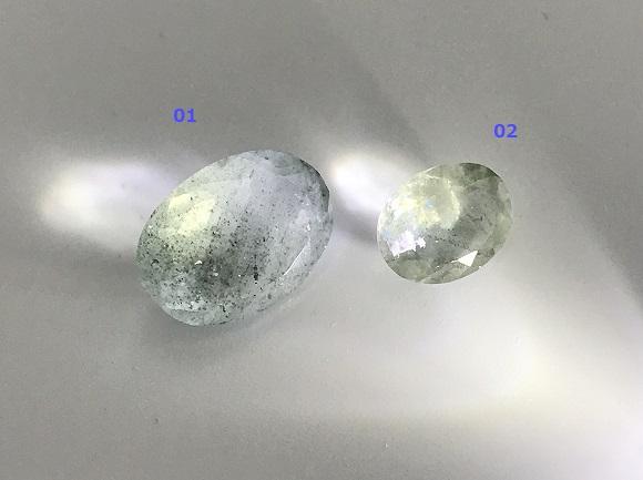 アクアマリン セレクト5種 天然石ルース  優しいブルーの癒し石