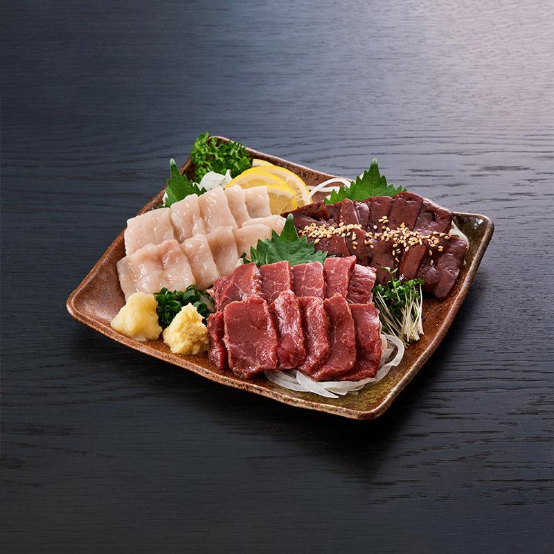 桜寿食品 馬刺し 計3人前 特上馬刺し3種セット【送料込】