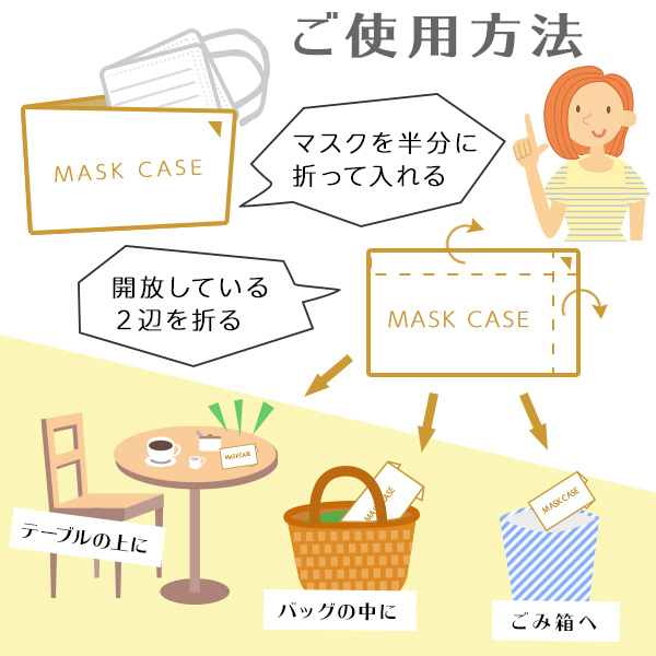 使い捨て マスクケース 紙 紙製 400枚  マスク入れ 日本製 持ち運び おしゃれ 飲食店 折りたたみ 仮置き 収納 携帯 保管 ノベルティ メール便T