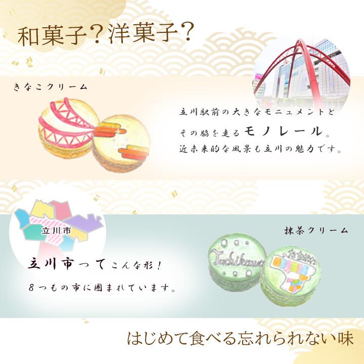 立川銘菓★ひんやり和風マカロン★お土産やギフト・お中元に。お取り寄せ・限定品・冷凍・常温可。あんバター・しそ甘辛マカロン。