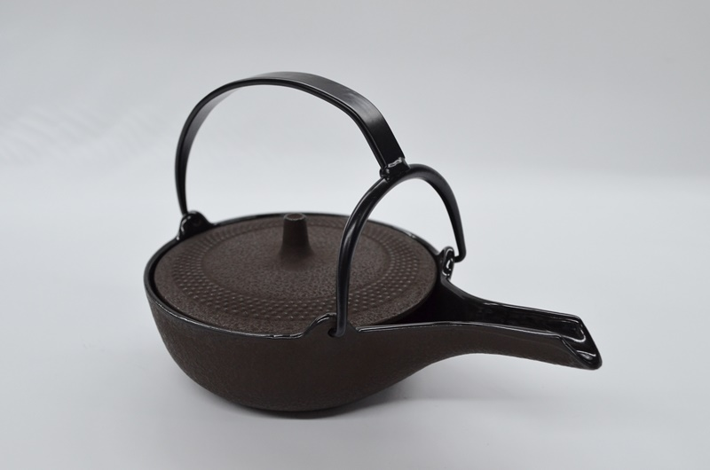 岩鋳 南部鉄器 平燗瓶(内面・蓋裏ホーロー)