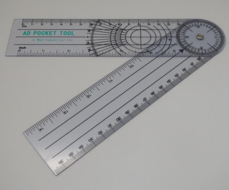 プラスチック角度計(ゴニオメーター) 全長18cm  /  36cm(展開時) SM-509
