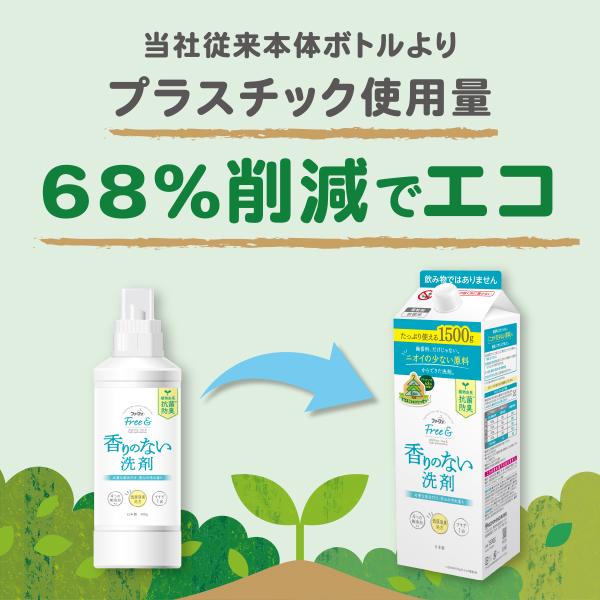 ファーファ フリー&(フリーアンド) 超コンパクト液体洗剤 無香料 エコパック 詰め替え 1000g