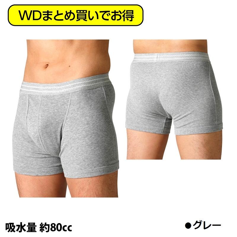 【WDまとめ買い】ウェルドライ 男性用ソフトトランクス(吸水量80cc)