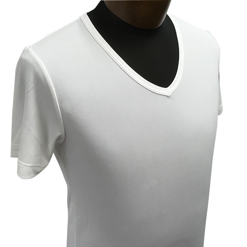 「ファインセーブ」V ネック半袖シャツ