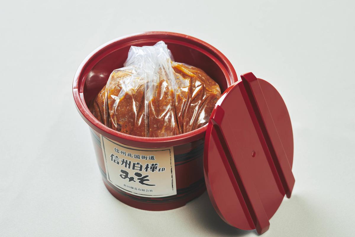 信州白樺印みそ 1.7kg 化粧樽
