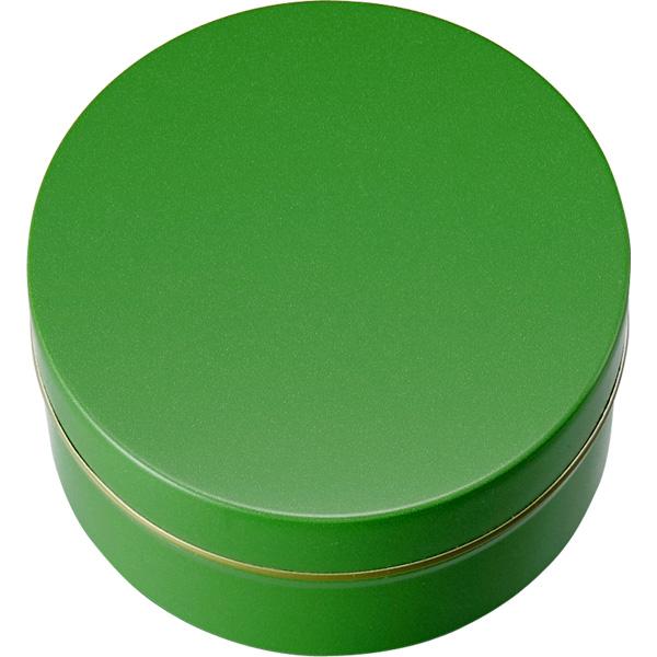 カラー缶(柄なし)緑