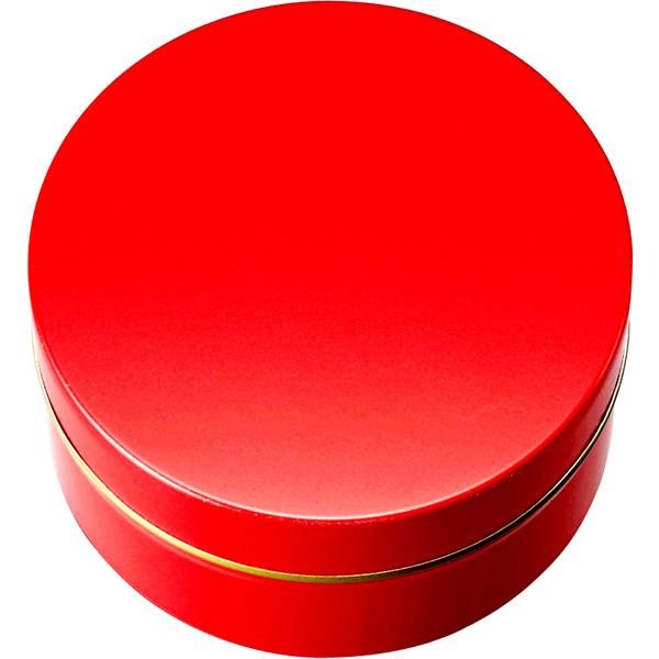 カラー缶(柄なし)赤