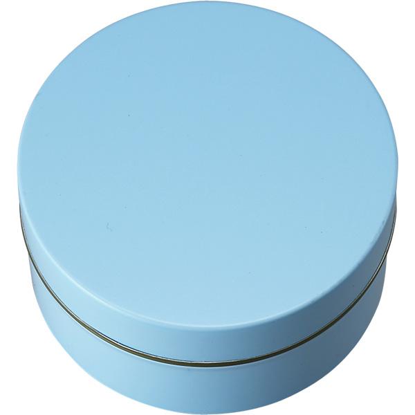 カラー缶(柄なし)水色