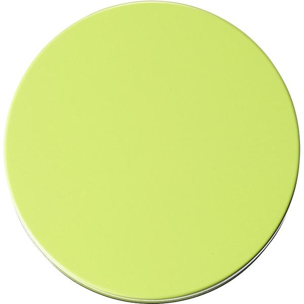 カラー缶(柄なし)黄緑