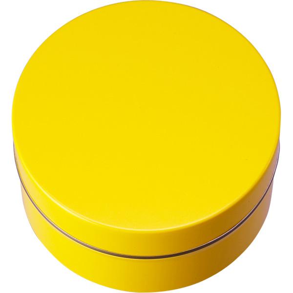 カラー缶(柄なし)黄色