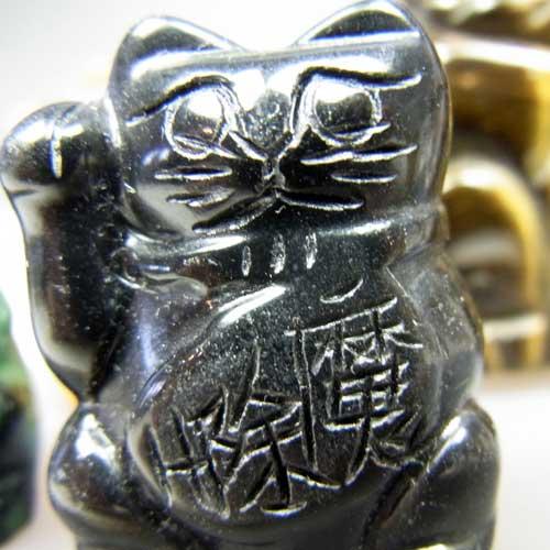 天然石 開運招き猫  〔5296〕