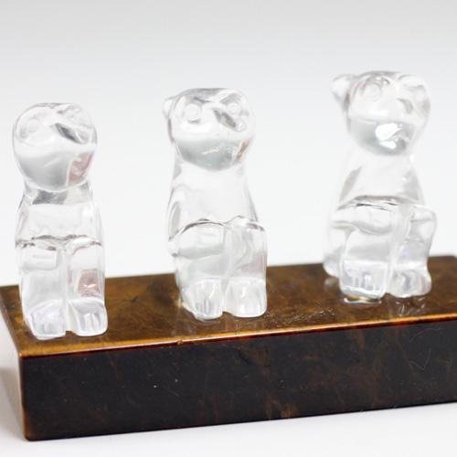 猿の水晶彫刻 〔5037〕