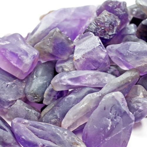 アメジスト原石さざれ (自然そのままの紫水晶) 100g単位〔3336〕