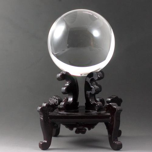 天然水晶 玉 クリスタル AAA 93mm(3寸玉) 最高級透明水晶 宝石鑑別書付き 〔0860〕