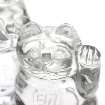 天然水晶 招き猫 〔2499〕