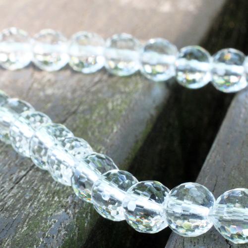 天然水晶ネックレス 8mm チョーカータイプ 〔3792〕
