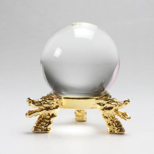 天然水晶玉 クリスタル 32.3mm 台座追加選択 右水晶最高級天然水晶〔3306-3〕