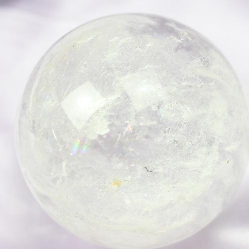 天然水晶玉 58mm レインボー入り 〔5171〕