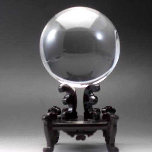 天然水晶玉 クリスタル AAA 122.6mm(4寸玉) 最高級透明水晶 宝石鑑別書付き 〔0616〕
