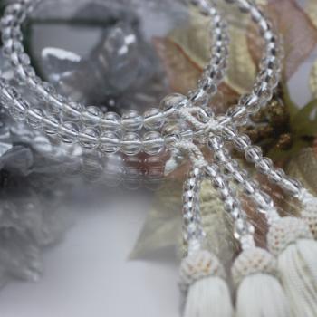 天然水晶 八宗用本連略式念珠 〔2575〕