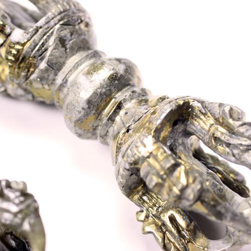 五鈷杵(密教法具) タイガーアイ ラボラドライト チャルコパライト 〔4104〕