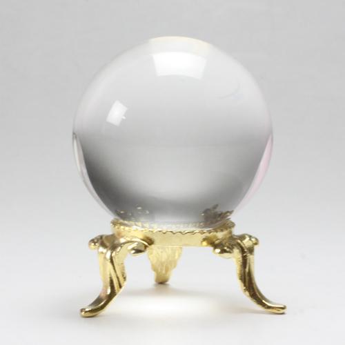 天然水晶玉 右スパイラルクリスタル 30.33mm 台座追加選択 最高級天然水晶〔3306-6〕
