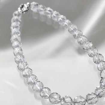 水晶ネックレス 8mm チョーカー〔0339〕