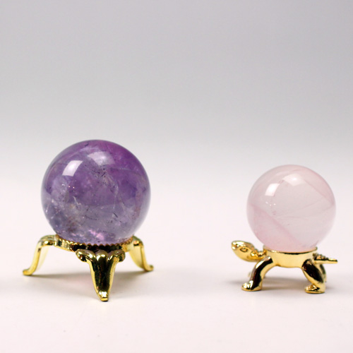 3色セット天然石 アメジスト 水晶 ローズクオーツ 〔5186〕