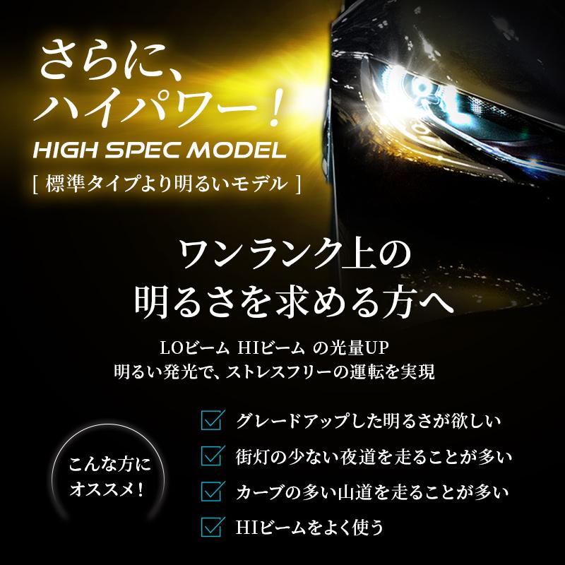 HB3/HB4 ハイスペックモデル ハイビーム/フォグライト かんたん取付交換 6400lm(ルーメン)6500K 車検対応 2個セット【WL013】