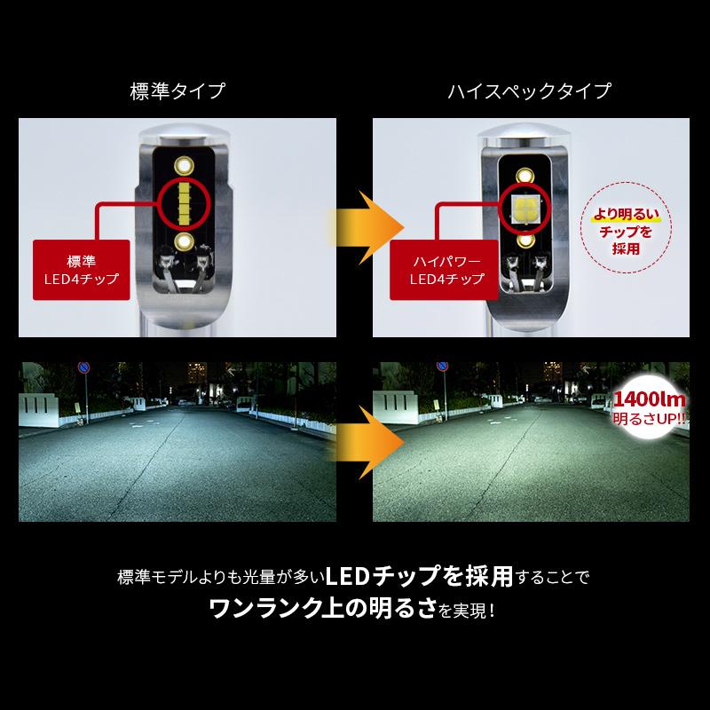 HIR2 C-HR/ヤリスクロス対応 LEDヘッドライト かんたん取付交換 6400lm(ルーメン)6500K 車検対応 2個セット【WL016】
