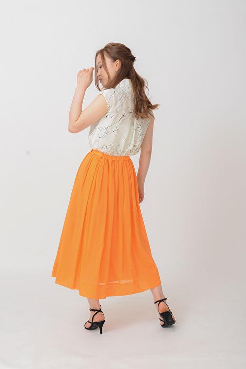 [レディな雰囲気タップリ]ギャザースカート