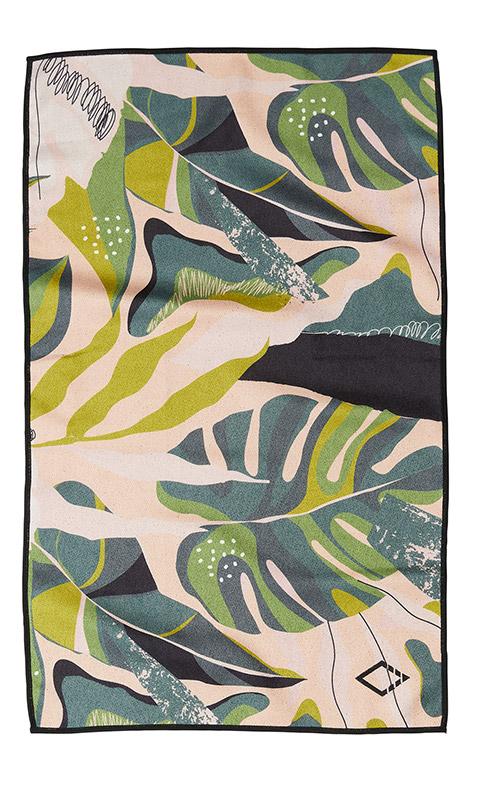 MONSTERA 66 GREEN PINK HAND TOWEL