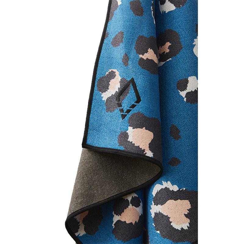 LEOPARD 48 COBALT TOWEL