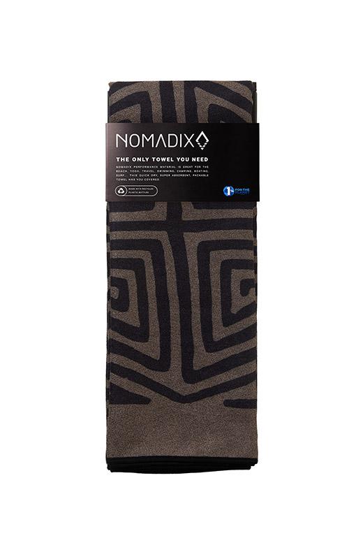 LA PLAYA 76 BROWN BLACK TOWEL