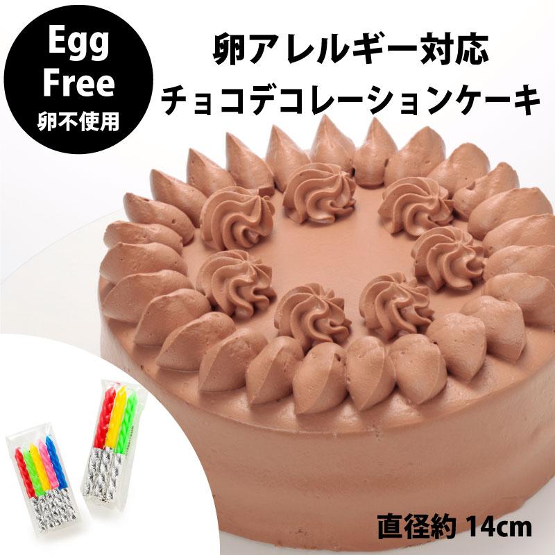 【宅配便受取】Egg Free [卵不使用] チョコレートデコレーションケーキ