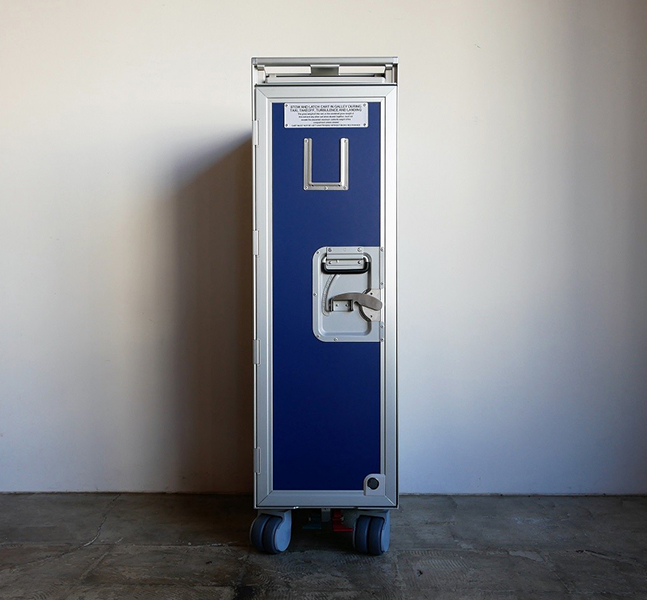 Airline Trolley (Blue × aluminum)