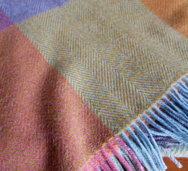 Multi color throw by Bronte