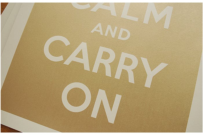 KEEP CALM and <br>CARRY ON - Gold