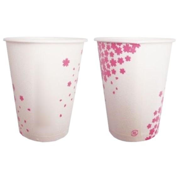 【春季限定】紙コップ 小桜 断熱7オンス 約210cc SM205D 60個×25袋(1500個入)【取り寄せ商品・即納不可・代引き不可・返品不可】