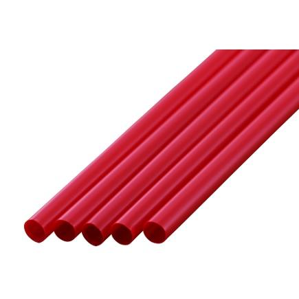 ストレートストロー 6mm×17cm 包装なし 赤色 500本入×20箱【メーカー直送・代引き不可・時間指定不可】