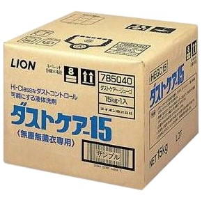 ダストケアー15 無塵無菌衣用ランドリー液体洗剤 15kg【取り寄せ商品・即納不可・代引き不可・返品不可】