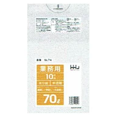 ポリ袋 70L LLDPE 0.04×800×900mm 半透明 10枚×40冊 (400枚) GL74【メーカー直送・時間指定不可・沖縄、離島不可】