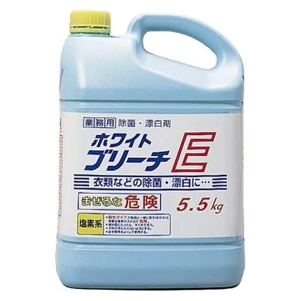 ニイタカ 衣料用塩素系漂白剤 ホワイトブリーチE 5.5kg×3本入【メーカー直送または取り寄せ】