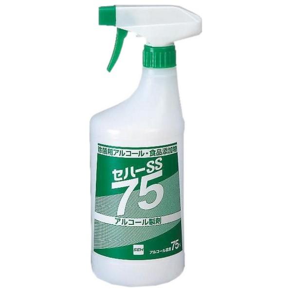 【入荷未定】セハーSS 75 除菌用アルコール 1000mlトリガー付×12本【取り寄せ商品・即納不可】