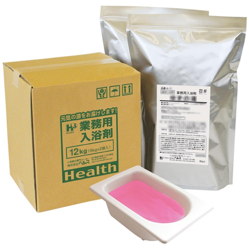 【ポイント5倍】業務用入浴剤 A-29 四季の彩り 桜の湯(春) 12kg(6kg×2袋)【メーカー直送または取り寄せ】