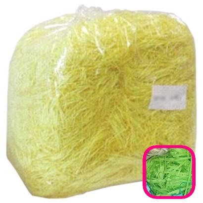 【送料無料】紙パッキン(ペーパークッション) カラーパッキン 1mm幅 グリーン 1kg【メーカー直送・代引き不可・時間指定不可・沖縄、離島不可】