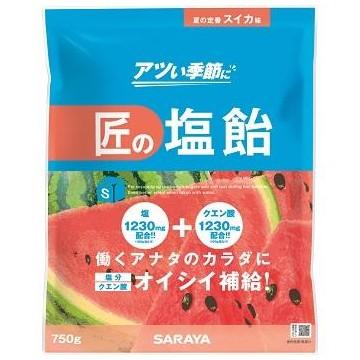 【完売しました】サラヤ 匠の塩飴 スイカ味 750g×10袋入●ケース販売お徳用【取り寄せ商品・即納不可】